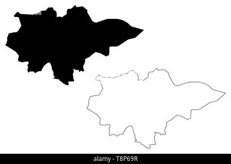 Mopti Region (Regions of Mali, Republic of Mali) map vector illustration, scribble sketch Mopti map - Stock Photo