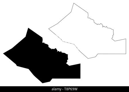 Kidal Region (Regions of Mali, Republic of Mali) map vector illustration, scribble sketch Kidal map - Stock Photo