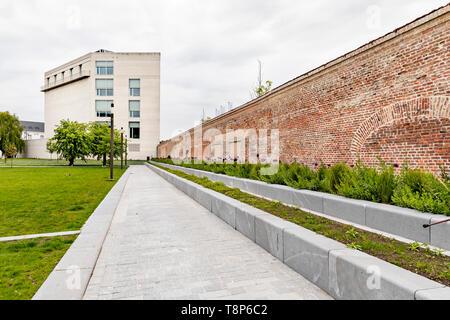 Mechelen, Belgium - May 6, 2019: Kazerne Dossin  Memorial in commemoration of the holocaust, designed by Bob Van Reeth - Stock Photo