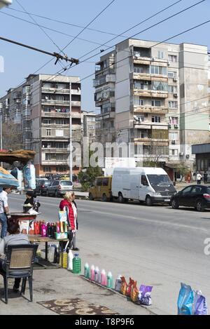 Gypsie-Neighbourhood Stolipinovo in Plovdiv, European capital of Culture 2019, 22.3.2018, 23.3.2019   usage worldwide - Stock Photo