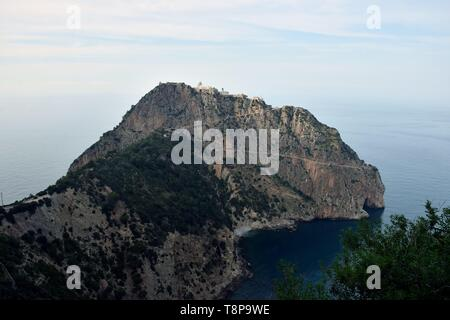 The viewpoint Cap Carbon on 02.04.2019 near the port of Bejaia - Algeria. | usage worldwide - Stock Photo