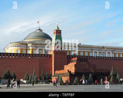 Lenin Mausoleum, Moscow Kremlin, Kreml, Moscow, Russia, UNESCO World Heritage Site - Stock Photo