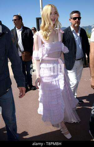 Cannes, France. 14th May, 2019. 72nd Cannes Film Festival 2019, Celebrity Sightings. Pictured: Elle Fanning Credit: Independent Photo Agency Srl/Alamy Live News - Stock Photo