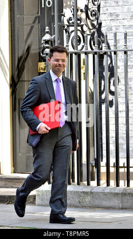 James Brokenshire MP - Secretary of State for Housing, Communities and Local Government - leaving a very long weekly Cabinet meeting in Downing Street, Westminster. London, UK. 14th May 2019. - Stock Photo