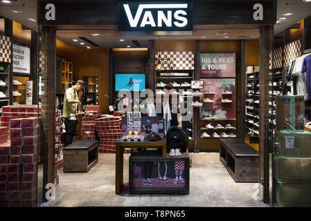 American skateboarding footwear company brand Vans store seen in ...