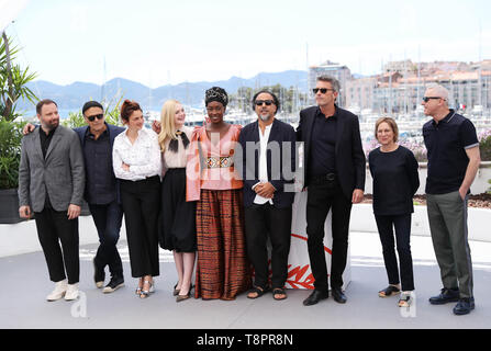 Cannes, France. 14th May, 2019. Members of the feature films jury pose at a photocall before the opening of the 72nd Cannes Film Festival in Cannes, France, May 14, 2019. Credit: Gao Jing/Xinhua/Alamy Live News - Stock Photo