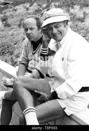 May 14, 2019: Los Angeles, California USA: FILE: Actor and comedian TIM CONWAY, best known for his Emmy winning work on 'The Carol Burnett Show, ' died on Tuesday morning. He was 85. PICTURED: TIM CONWAY and HARVEY KORMAN circa 1980's. (Credit Image: © Globe Photos/ZUMApress.com) - Stock Photo