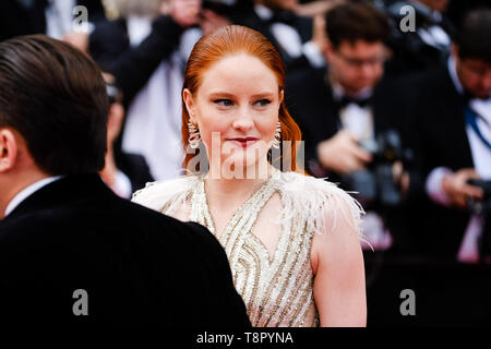 Cannes, France. 14th May, 2019.Barbara Meier poses on the red carpet for the opening night film, The Dead Don't Die on Tuesday 14 May 2019 at the 72nd Festival de Cannes, Palais des Festivals, Cannes. Pictured: Barbara Meier. Picture by Credit: Julie Edwards/Alamy Live News - Stock Photo