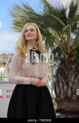 Cannes, France. 14th May, 2019. Elle Fanning attends the Jury photocall during the 72nd Cannes Film Festival (Credit: Mickael Chavet/Project Daybreak/Alamy Live News) Credit: Mickael Chavet/Alamy Live News - Stock Photo
