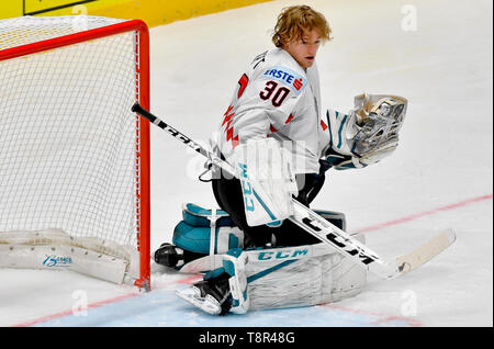 Bratislava, Slovakia. 14th May, 2019. DAVID KICKERT (AUT) is seen during the match Switzerland against Austria at the 2019 IIHF World Championship in Bratislava, Slovakia, on May 14, 2019. Credit: Vit Simanek/CTK Photo/Alamy Live News - Stock Photo