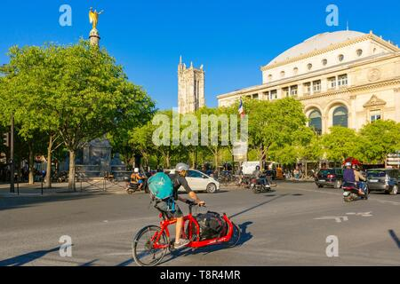 France, Paris, the Chatelet Square - Stock Photo