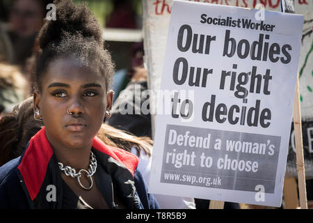 Women's Pro-Choice groups including Sister Supporter, Abortion Rights UK and Doctors for Choice UK oppose anti-abortionist protesters in Westminster.