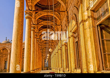 Columns of the  Mosque  of Ali Pasha (or Alabaster Mosque) Cairo Egypt