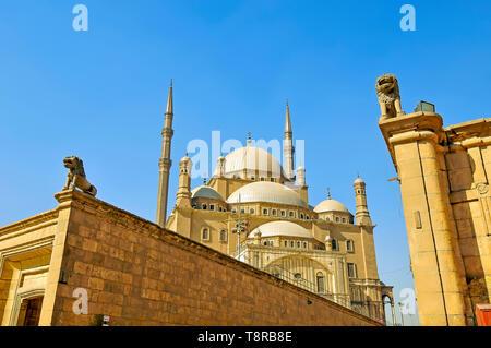 Mosque of Muhammad Ali Pasha Cairo Egypt located is the Citadel of Salah El Din (Saladin) Citadel in Cairo Egypt - Stock Photo