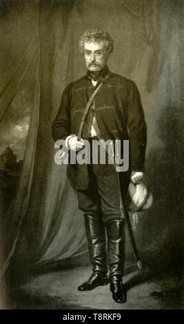 "'Sir Colin Campbell, afterwards Lord Clyde', c1860, (1901). Portrait of British Field Marshal Colin Campbell (1792-1863), Commander-in-Chief of India. From ""The Life and Deeds of Earl Roberts, Vol. I. - To The End of the Indian Mutiny"", by J. Maclaren Cobban. [T. C. & E. C. Jack, Edinburgh, 1901] - Stock Photo"