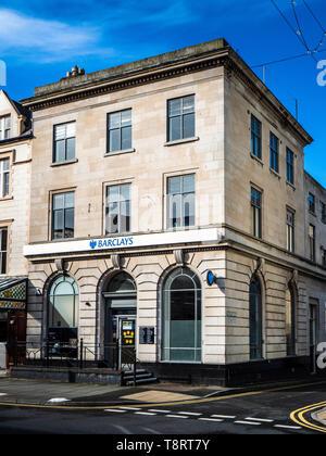 Barclays Branch - the Barclays Bank Branch in Mostyn Street Llandudno, Conwy, North Wales. - Stock Photo