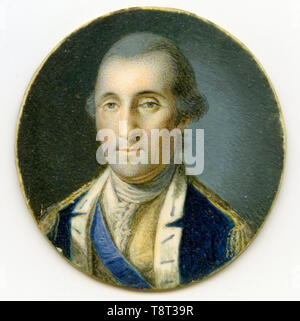 George Washington by Charles Willson Peale. George Washington (1732 - 1799) American political leader and Founding Father who also served as the first president of the United States from 1789 to 1797. - Stock Photo