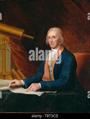 David Rittenhouse (1732 – 1796) American astronomer and inventor. David Rittenhouse by Charles Willson Peale - Stock Photo