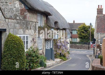 Worsley's tea room and bistro, Godshill, Isle of Wight - Stock Photo