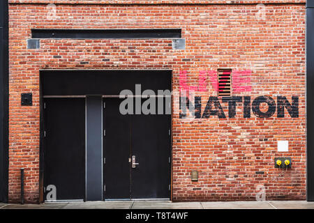 Live Nation Building in Chelsea next to the High Line in New York - Stock Photo