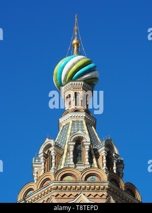 Church on the Savior of Spilled Blood, Saint Petersburg, Russia - Stock Photo