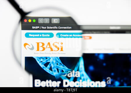 Richmond, Virginia, USA - 9 May 2019: Illustrative Editorial of BASI website homepage. BASI logo visible on screen. - Stock Photo