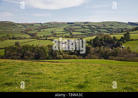 Gwenddwr Village, Erwood, Builth Wells, Powys ,Wales UK - Stock Photo