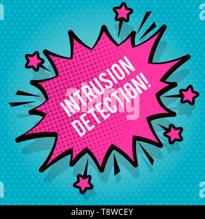 Text sign showing Intrusion Detection. Business photo text monitors a network or systems for malicious activity Spiky Blank Fight and Screaming Angry  - Stock Photo