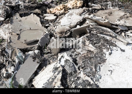 Close up of dumped construction waste - Stock Photo