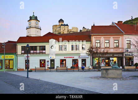 Sturovo Square in Trencin. Slovakia - Stock Photo