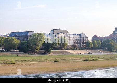 DRESDEN, GERMANY - SEPTEMBER 19, 2018: View on old city from Elbe river - Stock Photo