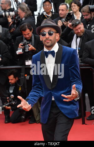 Cannes, France. 15th May, 2019. CANNES, FRANCE. May 15, 2019: JR at the gala premiere for 'Les Miserables' at the Festival de Cannes. Picture Credit: Paul Smith/Alamy Live News - Stock Photo