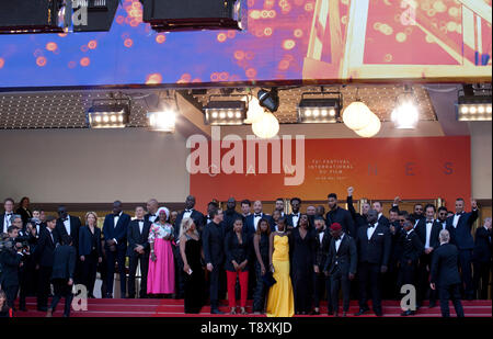Cannes, France. 15th May 2019. The cast at the Les Misérables gala screening at the 72nd Cannes Film Festival Wednesday 15th May 2019, Cannes, France. Photo credit: Doreen Kennedy Credit: Doreen Kennedy/Alamy Live News - Stock Photo
