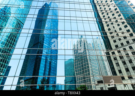 Modern office building detail,glass surface - Stock Photo