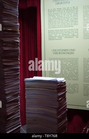 Ausstellung im Rahmen der Wiener Festwochen:  'Das Haus der Europäischen Geschichte im Exil' Kurator Thomas Bellinck *1983 Brüssel, Regisseur - Stock Photo