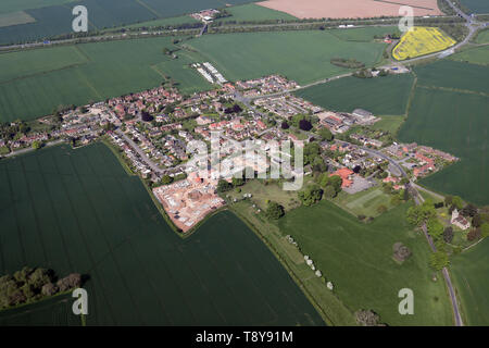aerial view of Kirby Hill village near Boroughbridge, North Yorkshire - Stock Photo