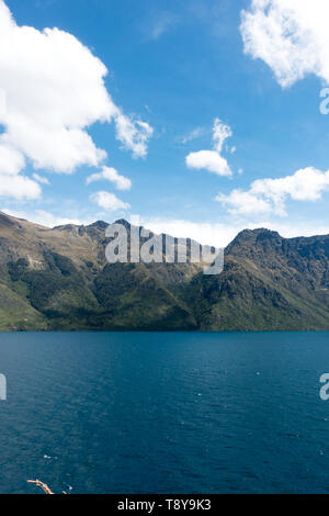 Lake Wakatipu in New Zealand's South Island from the Devil's Staircase  viewpoint - Stock Photo