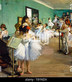 Ballet, Edgar Degas, The Dance Class, painting, 1874 - Stock Photo