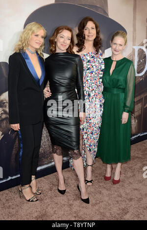 May 14, 2019, Los Angeles, California, U.S.: Kim Dickens, Molly Parker, Robin Weigert, Paula Malcomson at the ''Deadwood'' HBO Premiere at the ArcLight Hollywood. (Credit Image: © Kay Blake/ZUMA Wire) - Stock Photo