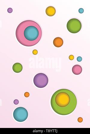 Abstract vector background with colorful circle shape hole - Stock Photo