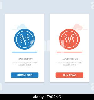 Biochemistry, Biology, Chemistry, Laboratory, Process  Blue and Red Download and Buy Now web Widget Card Template - Stock Photo