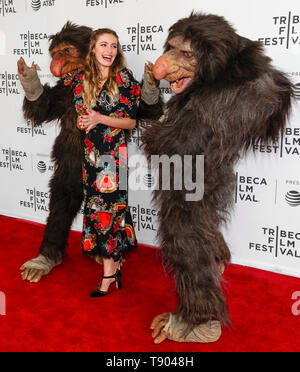 New York, NY - April 27, 2019: Grumblers - Boomer and Morse and Nicole Elizabeth Berger attend the premiere of the 'The Place of No Words' during the  - Stock Photo