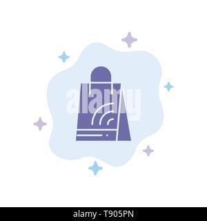Bag, Handbag, Wifi, Shopping Blue Icon on Abstract Cloud Background - Stock Photo