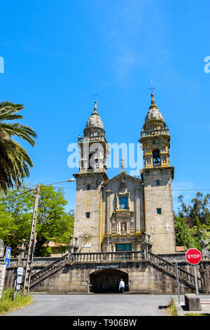 Galiza, Spain - May 12, 2019: The Church of Our Lady of Slavery is a Marian temple located in the village of Escravitude, in the civil parish of Santa - Stock Photo