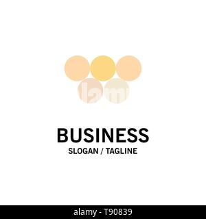 Ancient, Greece, Greek, Olympic Games Business Logo Template. Flat Color - Stock Photo