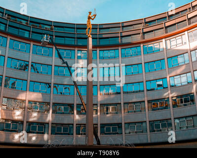 Television Centre in Shepherd's Bush formerly the home of BBC Television since 1959 is now a housing and leisure development - Stock Photo