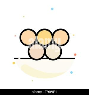 Ancient, Greece, Greek, Olympic Games Abstract Flat Color Icon Template - Stock Photo