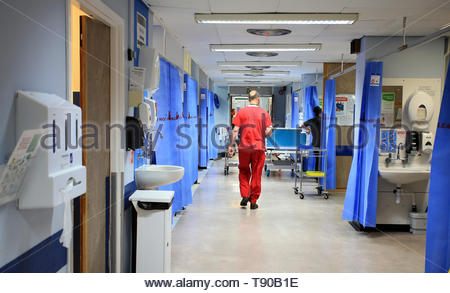 Embargoed to 0001 Thursday May 16 File photo dated 03/10/14 of a hospital ward. One in 20 places on university nursing courses was vacant at the beginning of the academic year, new research suggests. - Stock Photo