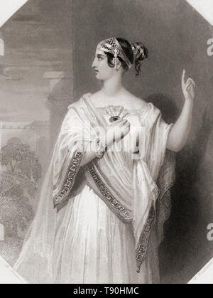 Portia.  Principal female character from Shakespeare's play Julius Caesar.  From Shakespeare Gallery, published c.1840. - Stock Photo