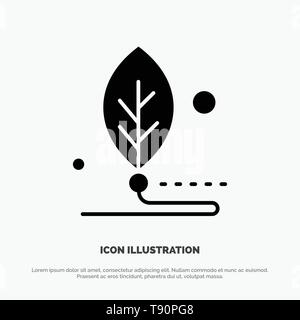 Artificial, Biology, Digital, Leaf, Life solid Glyph Icon vector - Stock Photo